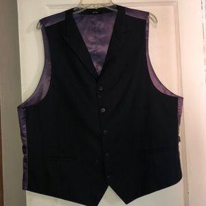 Men's modern fit black vest